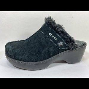 Crocs Cobbler Suede Leather Clogs Women's 8M